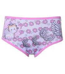 calcinha unicórnio vip lingerie infantil - rosa