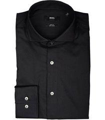 hugo boss overhemd jason zwart sf 50413744/001
