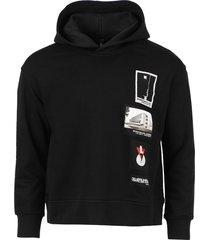 centenary bauhaus patches hoodie jumper