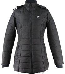 casaco térmico longo fiero para neve nebraska preto