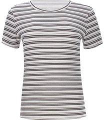 camiseta mujer m/c a rayas color negro, talla s
