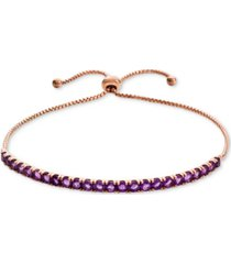 amethyst (2-1/4 ct.t.w.) bolo bracelet in 10k white gold(also available in garnet & blue topaz)