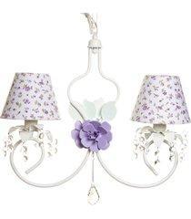 lustre 2l imperial quarto bebê infantil menina potinho de mel lilás