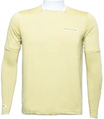 camiseta ml dryfit gola filete fishing co. bege mojave ufp 50+ ref. 1027
