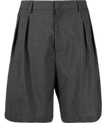 low brand dark grey virgin wool tailored shorts