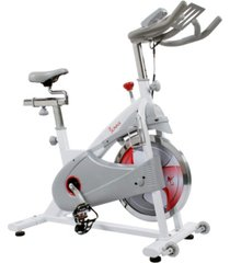 sunny health & fitness magnetic belt drive premium indoor cycling bike