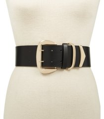 inc oversized-buckle stretch belt, created for macy's