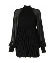 proenza schouler blusa mangas longas de tricô - preto