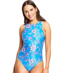 wild rose hi front ecolast one-piece swimsuit