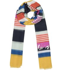 kate spade new york women's oceanside stripe oblong scarf