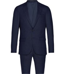 bs abruzzo slim, suit pak blauw bruun & stengade