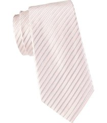 striped silk & cotton-blend tie