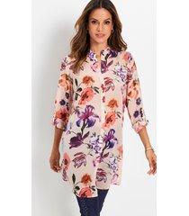lange blouse van chiffon