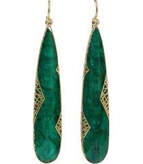 yossi harari 18kt yellow gold diamond cone drop earrings - ylwgold