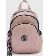 mochila delia mini rosado kipling