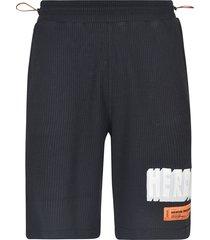 heron preston waffle shorts