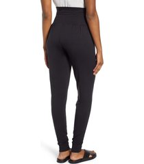 angel maternity tapered maternity lounge pants, size xx-large in black at nordstrom