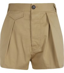 dsquared2 high waist buttoned shorts