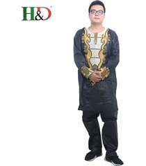 african clothing outfit men bazin pant suit dashiki boho set cotton blend wax