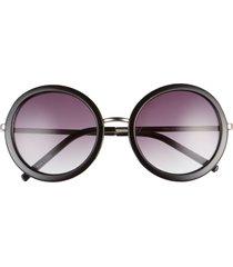 women's bp. 52mm round sunglasses - black
