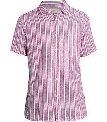 calico striped short-sleeve shirt