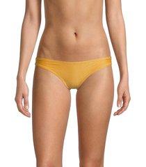 solid and striped women's the eva bikini bottom - glitter gold - size s