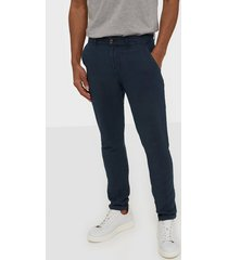 solid jim lux linen pants byxor insignia blue