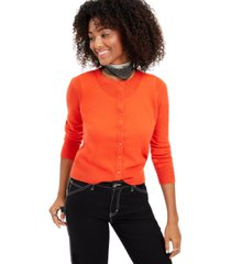 charter club cashmere essential cardigan, created for macy's