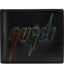 men's gucci blade embroidered wallet -
