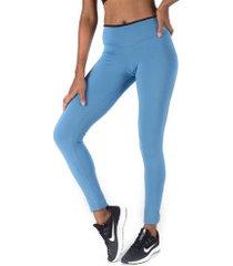 calça legging oxer beta way - feminina - azul/preto