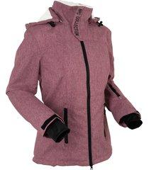 giacca tecnica outdoor con pile effetto peluche (rosso) - bpc bonprix collection