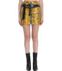 ben taverniti unravel project skirt in animalier leather