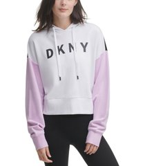 dkny sport cotton colorblocked hoodie