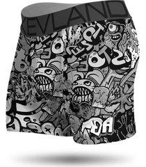 cueca boxer kevland grafite p&b preto - preto - masculino - dafiti