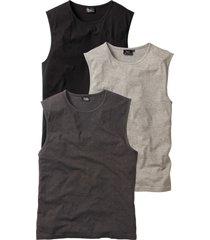 canotta (pacco da 3) (grigio) - bpc bonprix collection
