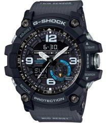 g-shock men's analog-digital mudmaster gray resin strap watch 52mm