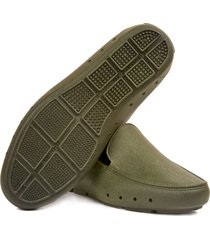 mocasin stretch unisex reciclable vegano verde militar