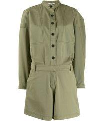 derek lam 10 crosby oversized short jumpsuit - green