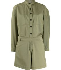 derek lam 10 crosby oversized short jumpsuit - green