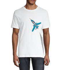 french connection men's rocket graphic t-shirt - linen white - size l