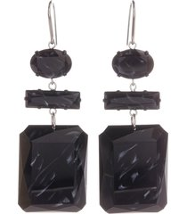 women's isabel marant geometric resin drop earrings