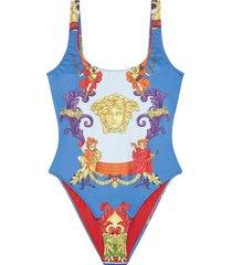 medusa renaissance print one-piece swimsuit
