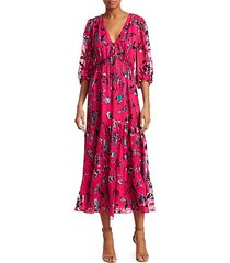 dulce floral tiered ruffle dress