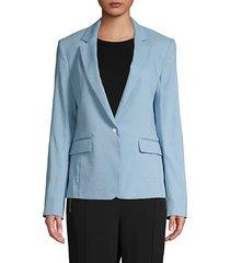 lucy linen-blend blazer