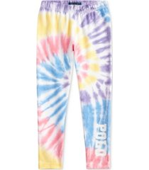 polo ralph lauren toddler girls tie-dye stretch jersey leggings
