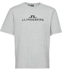 alpha t-shirt t-shirts short-sleeved grå j. lindeberg ski