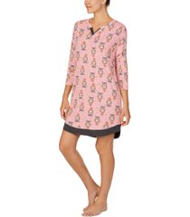 cuddl duds printed sleep shirt nightgown