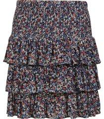 michael kors triple-layered floral print skirt