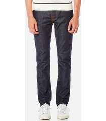 nudie jeans men's grim tim slim jeans - dry open navy - w38/l32 - navy
