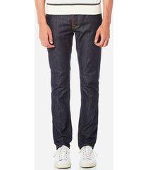 nudie jeans men's grim tim slim jeans - dry open navy - w30/l34